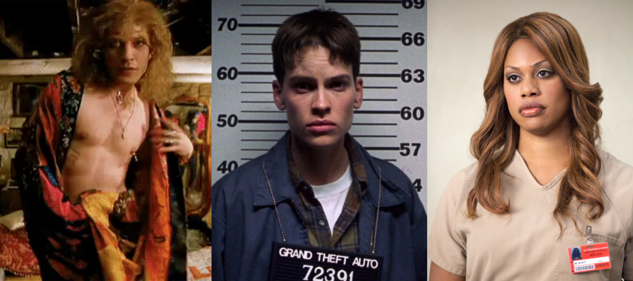 Mainstream media trans characters over the last few decades: