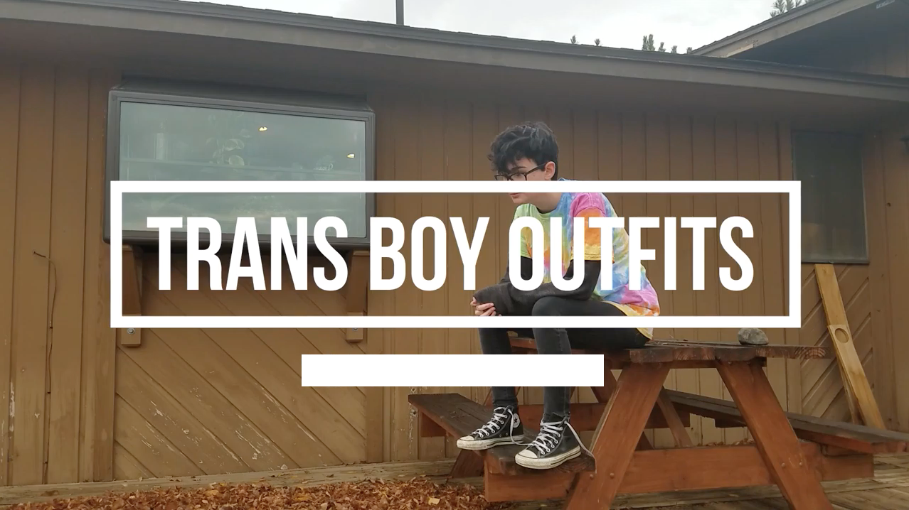 Screen grab of the YouTube video of a vlogger sharing fashion ideas.