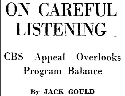 Jack Gould column
