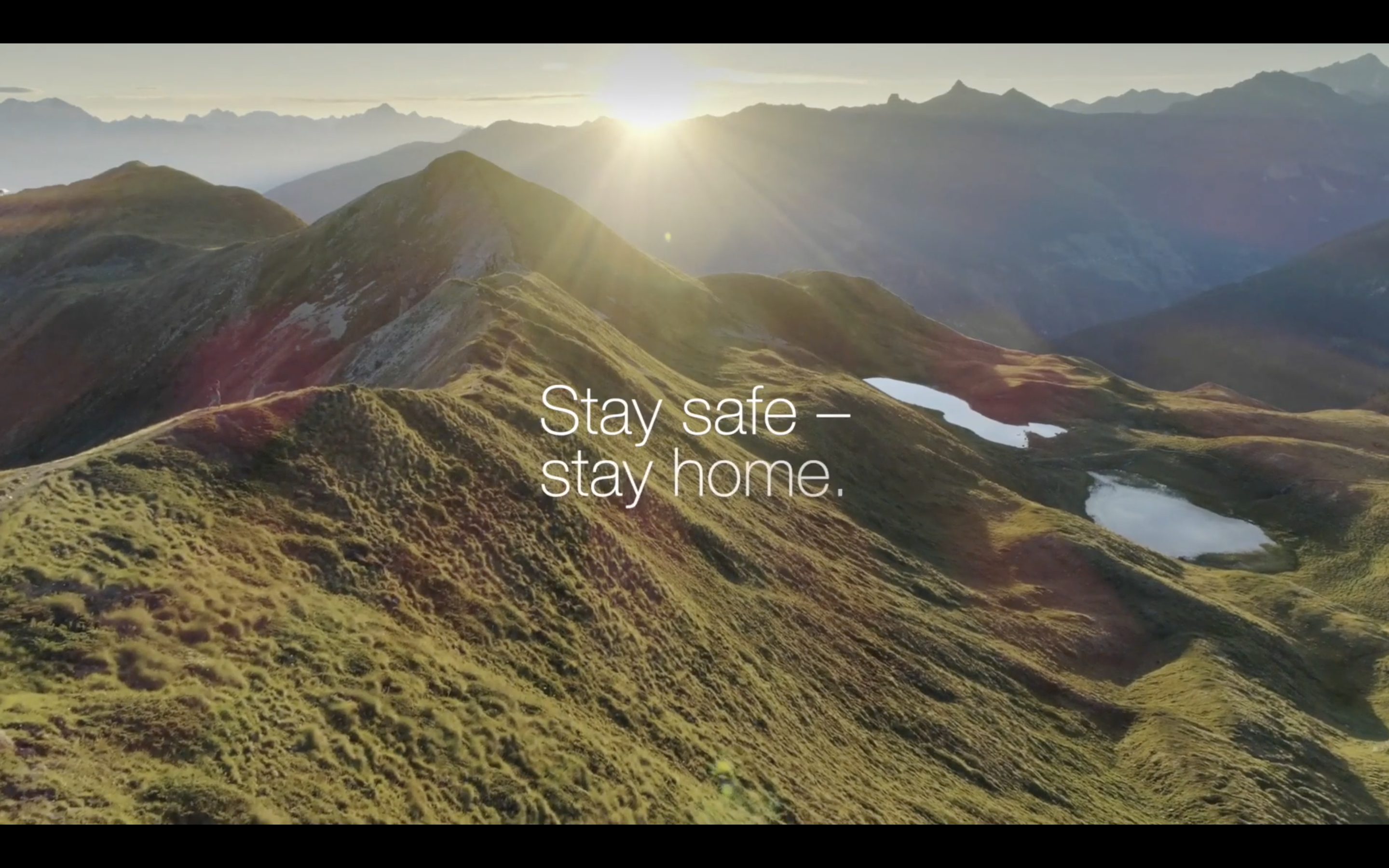 A message from Switzerland's Tourism Board to Tourists: