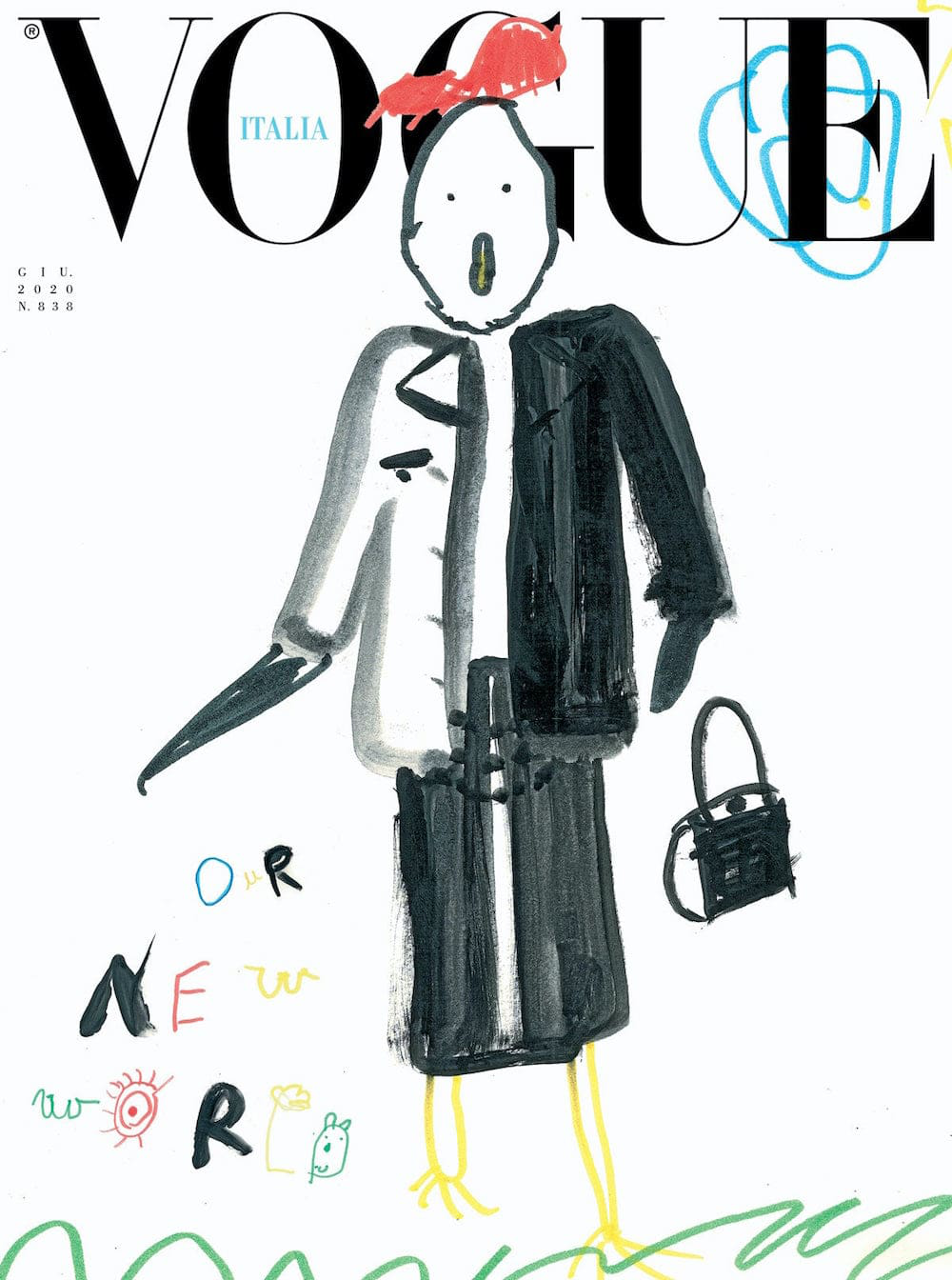 One of eight child drawings for Vogue Italia's June issue