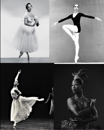 Collage of Black Ballerinas
