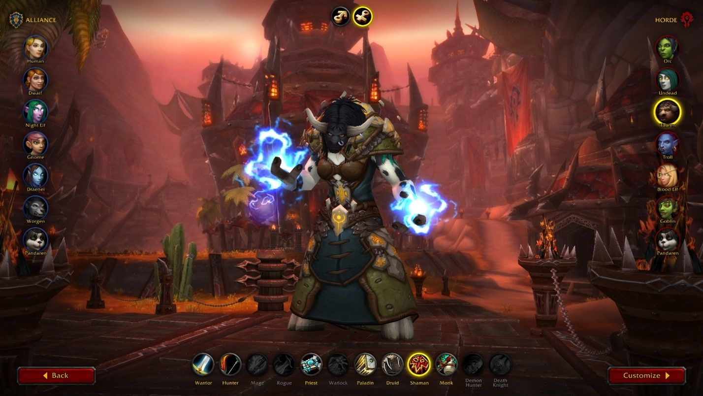World of Warcraft Shadowlands Character Creation