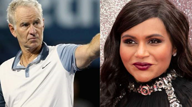 Tennis legend John McEnroe and Mindy Kaling for her Netflix comedy 'Never Have I Ever'