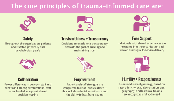 Core principles of a trauma-informed approach
