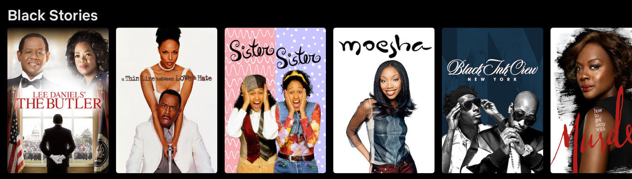 Black Stories Tab on Netflix