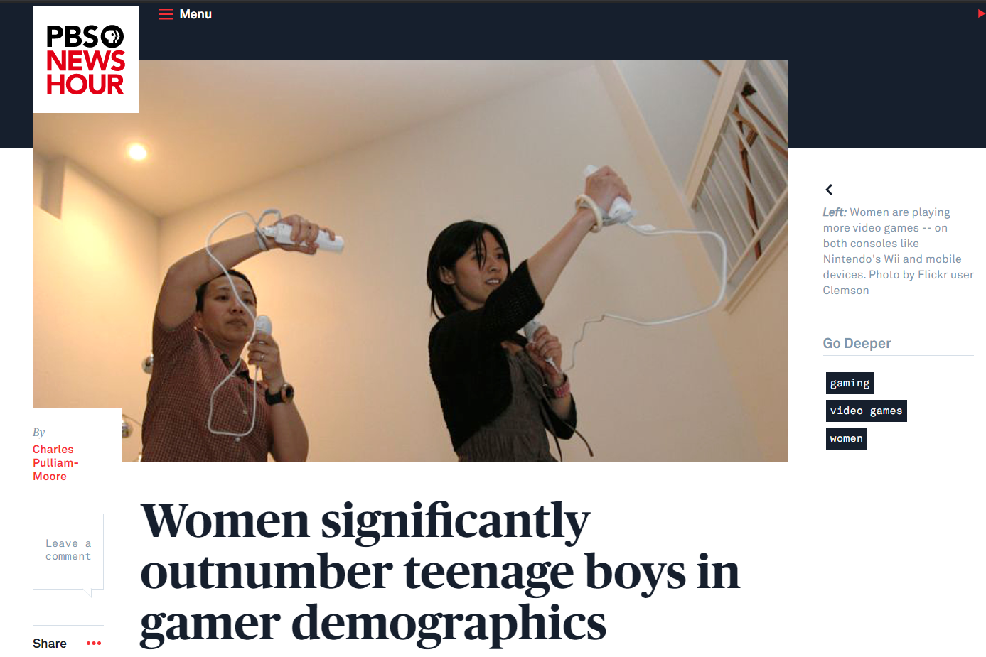 women playing the Wii