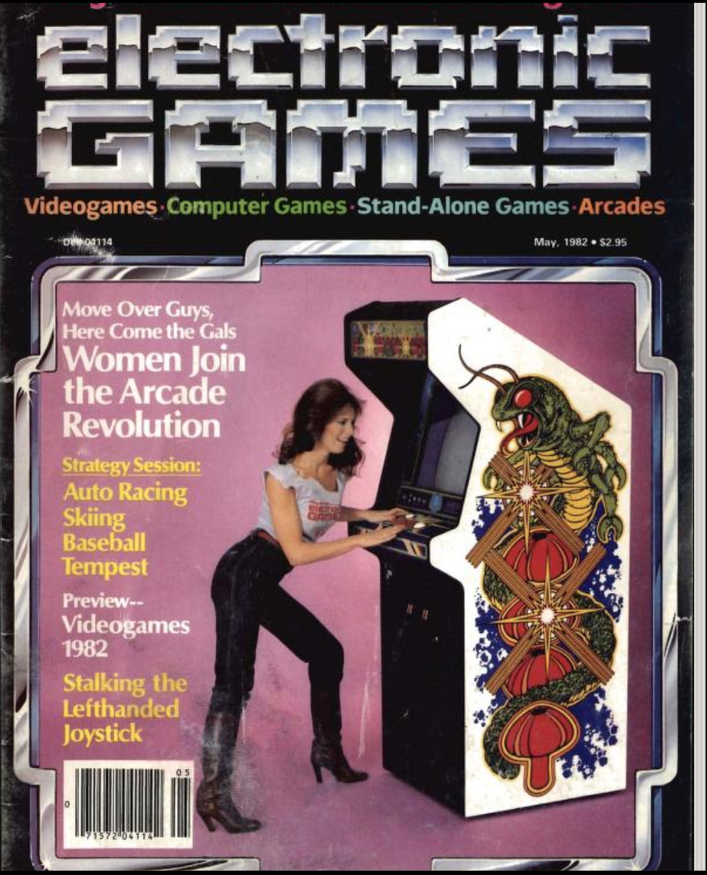 woman on a games magazine article