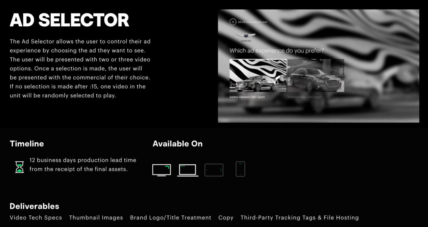 Hulu Ad Selector