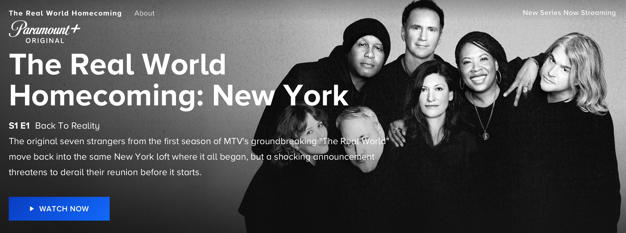 The Real World Homecoming New York Page on Paramount Plus