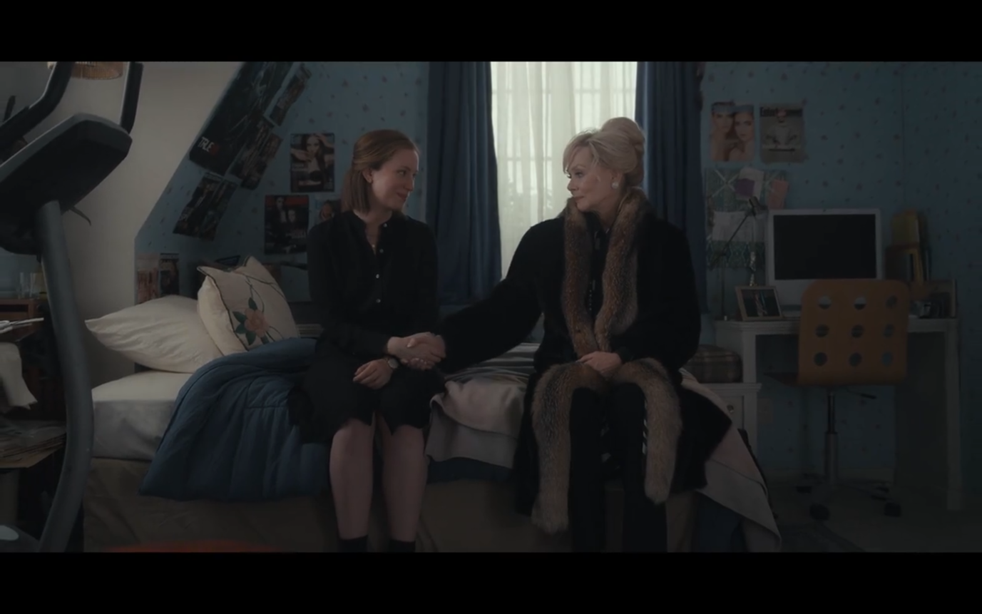 The two characters reconnect in Ava's old bedroom