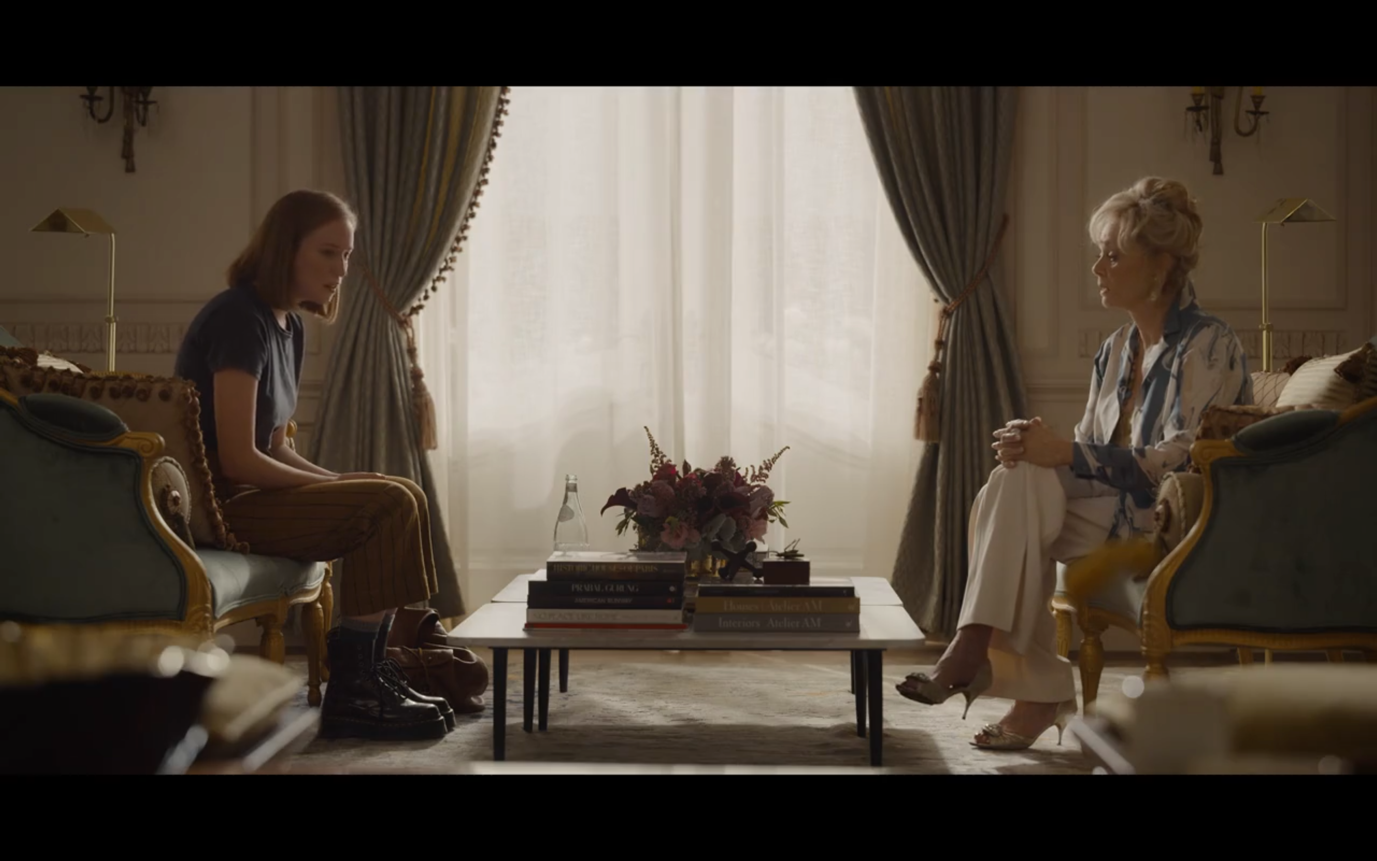 Figure 2: A sitting stand-off between Deborah and Ava (Episode 1)