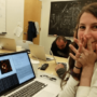 The image of computer scientist Katie Bouman's joyful expression was circulated widely with the announcement of the first picture produced of a black hole